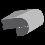 Polished Bullnose Edge & Bevelled Planed Section 20mm + 20mm